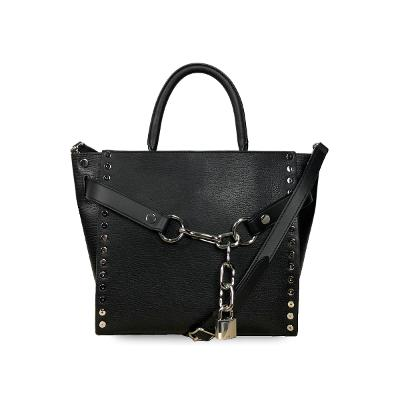 attica chain satchel in black
